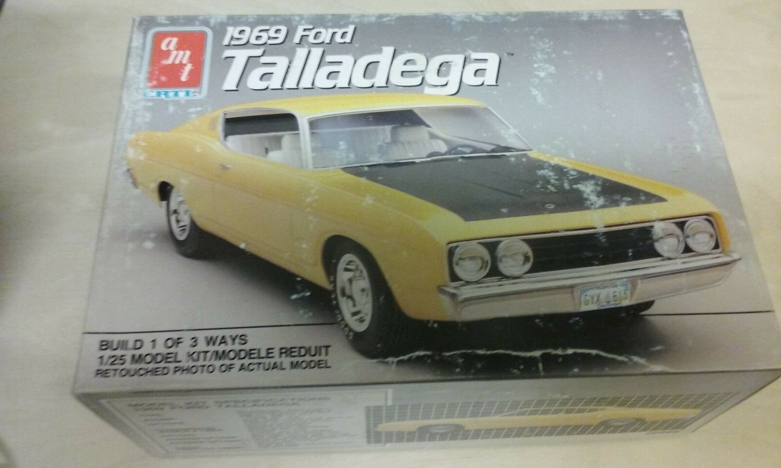 AMT 1969 Ford sizedega Car Model Kit OPENED ( M-8)