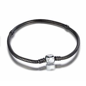 Fine-Bracelet-bangle-chains-Fit-925-Silver-Sterling-European-charms-Bead-pendant