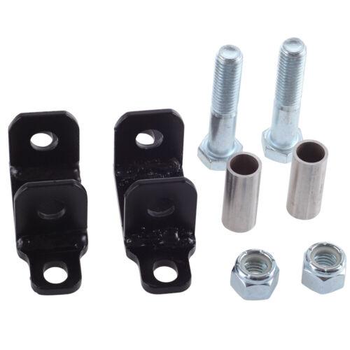 Rear Shock Upper Bar Pin Eliminator Kit Compatible w 1997-2018 Jeep Wrangler JK