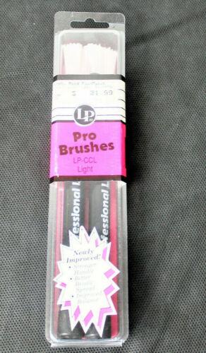 Latin Percussion LP-CCL Light Professional Brushes Nylon Bristles Adjustable NEW