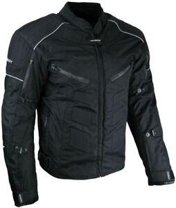 Heyberry-Textil-Motorrad-Jacke-Motorradjacke-Schwarz-Gr-M-bis-7XL