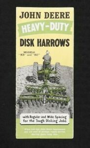 "1941 JOHN DEERE ""KB & KC HEAVY-DUTY DISK HARROWS"" SALES BROCHURE ACCEPTABLE"
