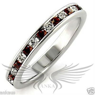 Brilliant Round Cut Top Grade Crystals 925 Sterling Silver Eternity Band 35143