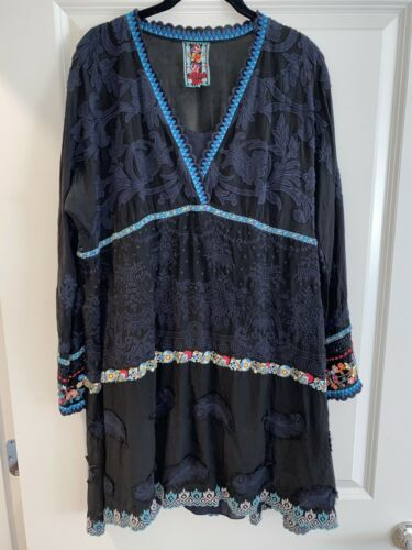 Johnny Was Embroidered Dress LARGE