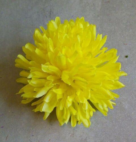 Krokodilspange Chrysantheme hellgelb  Neu Haarspange mit Blüte