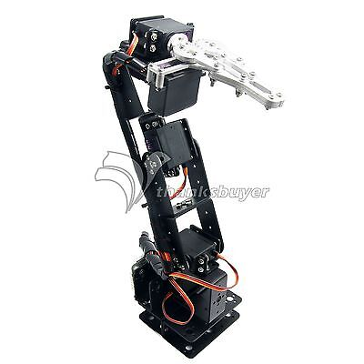 Robot 6DOF Arm Clamp Claw Mount Kit Mechanical Robotic Arm f/ Arduino Compatible