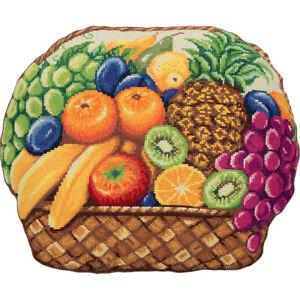 Counted Cross Stitch Kit PANNA PD-7051 - Fruit basket (Cushion Front)