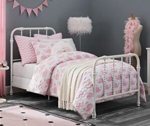 Details about NEW TWIN White Antique Country Style Metal Beds Bed Jenny  Lind Bedroom Furniture