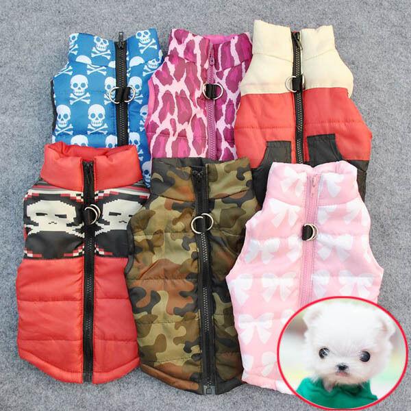 Cat Dog Pet Chic Clothing Soft Padded Vest Harness Jacket Small Dog Coat