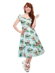 Image is loading Collectif-Tropical-Pin-Up-Girl-Dolores-Swing-Dress- e4f9a0d82