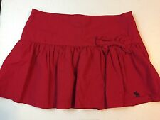 ABERCROMBIE & FITCH red Skirt size 10 short/mini with bow