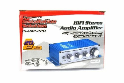 2 Pack Stereo HiFi 2-Channel Amplifier Car Motorcycle Boat Bar MP3 Music Power