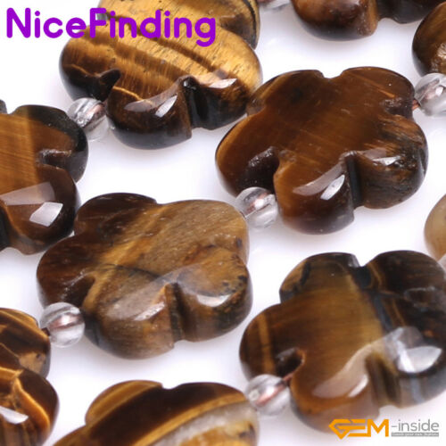 """15mm Natural Flower Gemstone Beads For Jewellery Making Strand 15/"""" Free Shipping"""