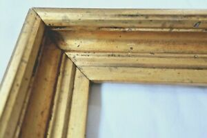 ANTIQUE-FITS-10X13-LEMON-GOLD-GILT-PICTURE-FRAME-WOOD-FINE-ART-COUNTRY-PRIMITIVE