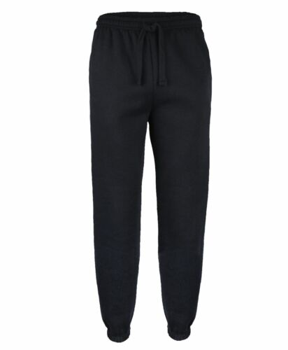 Tuta in Pile da Uomo Tinta Unita Pantaloni Jogging Pantaloni della Tuta con risvolto Bottoms Taglia S-XL