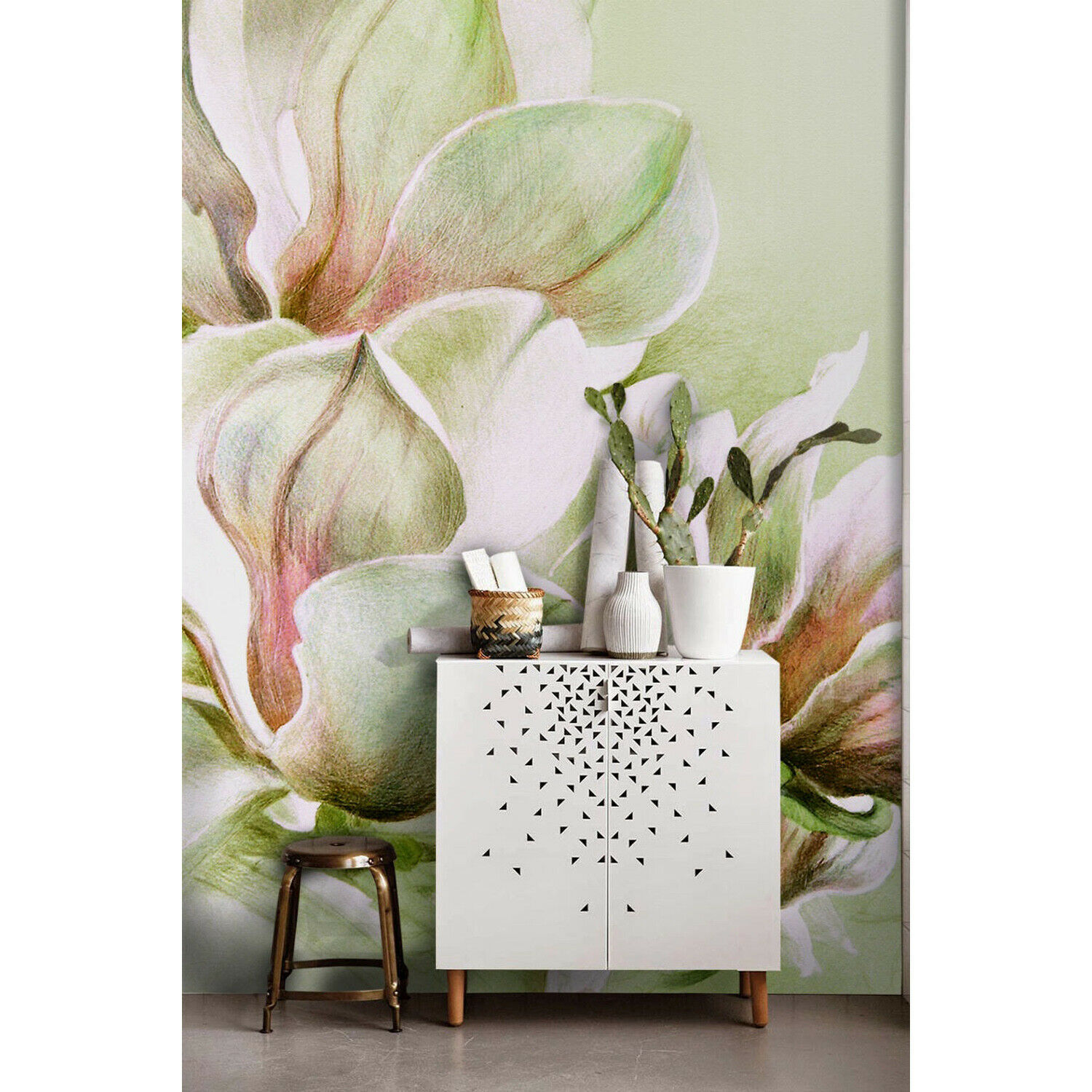 Wall Mural Fabulous Magnolia Flowers Nature Flower Floral Non-woven wallpaper