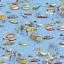 Bateaux dans les joncs rivière lac 100/% coton patchwork tissu Inprint