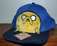 Adventure Time Original Snapback Fuzzy Jake Flat Bill One Size Baseball Cap Hat