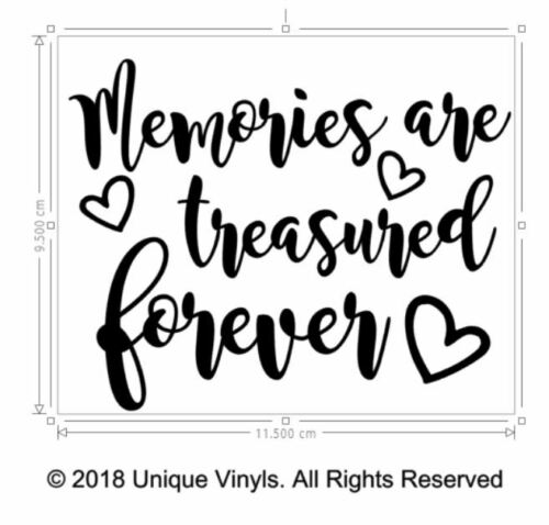 keepsake vinyl sticker for memorial jar or box Memories are treasured forever