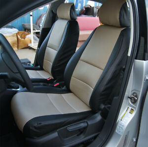 2015 Tacoma For Sale >> VOLKSWAGEN JETTA 2011-2015 BLACK/BEIGE S.LEATHER CUSTOM MADE FRONT SEAT COVER   eBay