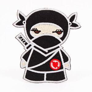 dibujos animados lindo chica ninja kid 85 mm coser hierro en parche