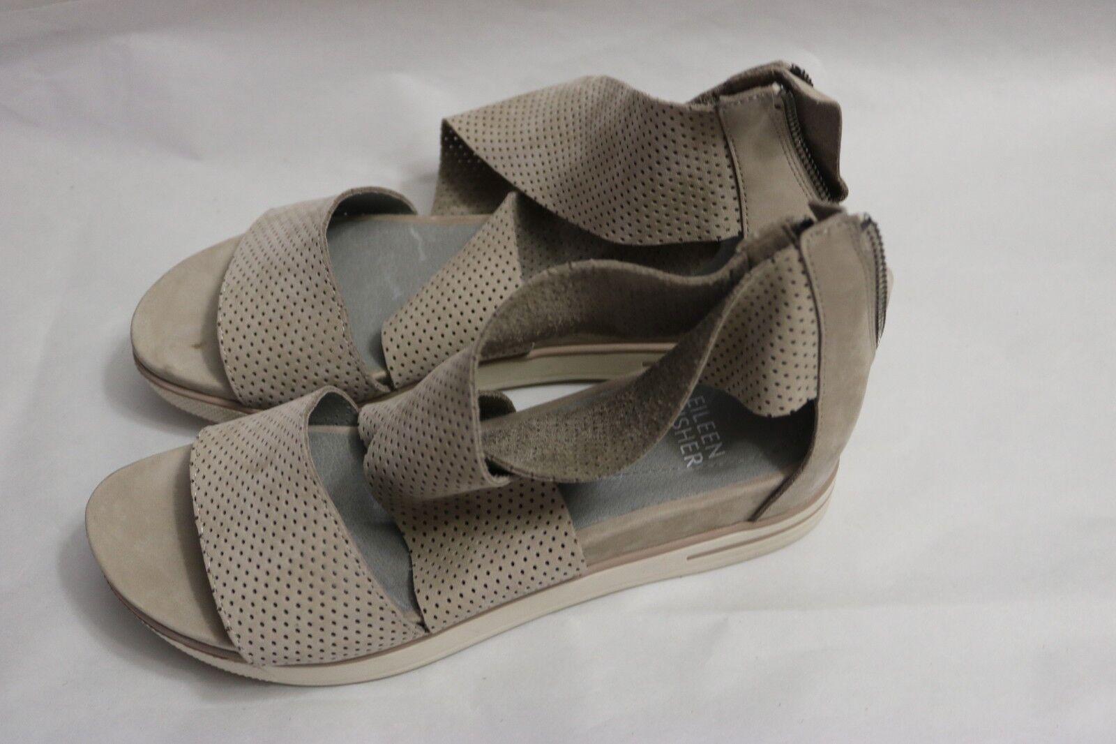 B -457  Eileen Fisher Perforata Piattaforma Sport Sandal Leather Dimensione 6 M  negozi al dettaglio
