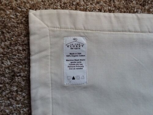 White Ribbon Bows Baby Blanket Quilt Ivory Soft Organic Cotton Boutique CH