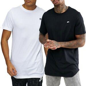 Nike-Mens-Modern-Tee-Longline-Long-Sports-T-Shirt-Black-White-873239-010-100