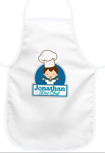 Any Name//Text Gift PERSONALISED BOYS APRON Mini Chef design NEW