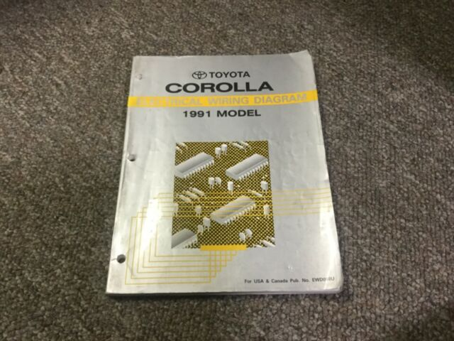 Genuine 1991 Toyota Corolla Factory Electrical Wiring