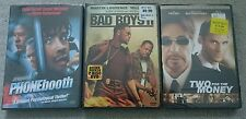 BRAND NEW DVD LOT: PHONEBOOTH-TWO FOR THE MONEY-BAD BOYS 2-ALL FACTORY SEALED!!