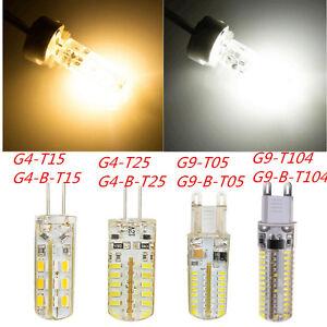 hot g4 3w 5w led bulb g9 6w 10w 3014 led light 12v 110 240v cool warm white lamp ebay. Black Bedroom Furniture Sets. Home Design Ideas