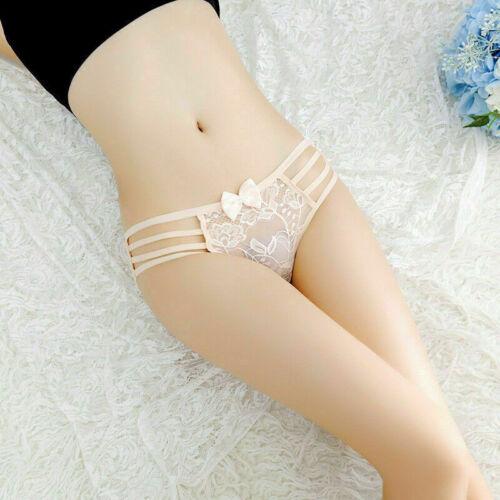 Women Underwear Lace Bikini Panties BriefsThongs G-String  Lingerie