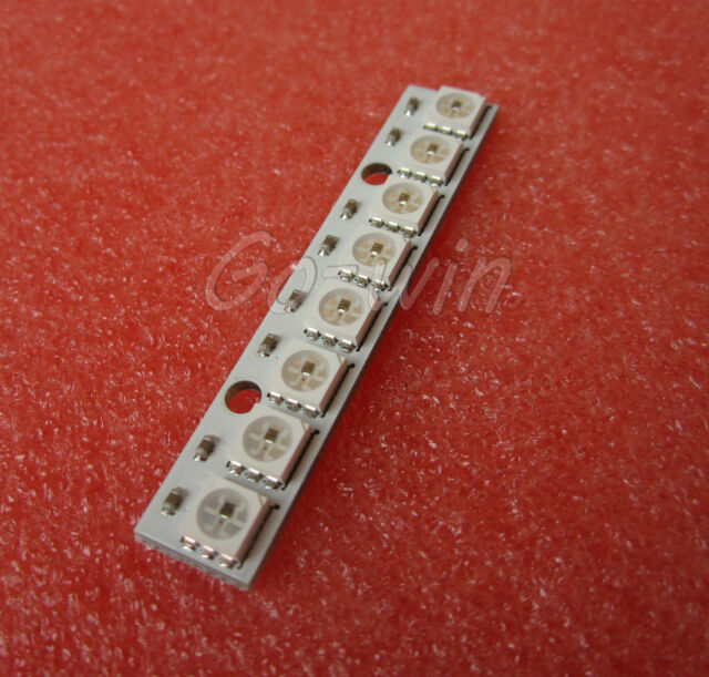 5pcs NEW 8x WS2812 5050 RGB LED Driver Board Chainable Board for Arduino