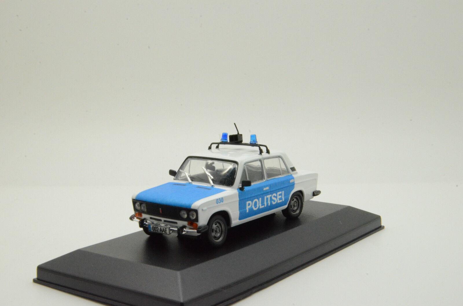 rara LADA VAZ 2106 Estonia Politsei policía Hecho a Medida 1/43