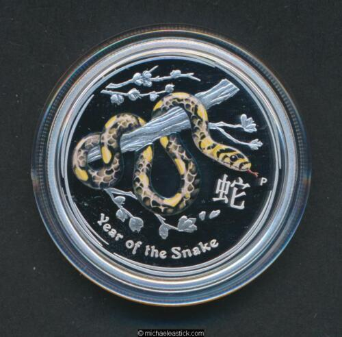 2013 Australia 50c ½oz Silver Proof Coin Lunar Year of the Snake
