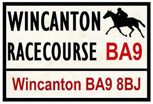 HORSE RACING ROAD SIGNS (WINCANTON) - FUN SOUVENIR NOVELTY FRIDGE MAGNET GIFT