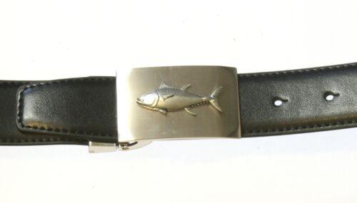 Tuna fish style boucle et ceinture set en cuir noir idéal pêche cadeau