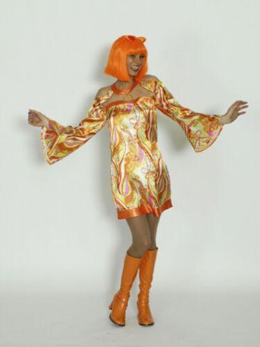 Costume 70 cravates Hippie Girl Carnaval 70er robe