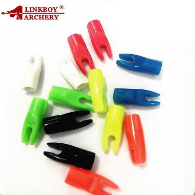 50PCS Plastic Nock for Aluminum Pin Insert ID6.2mm Arrow Shaft Nock Bow Archery