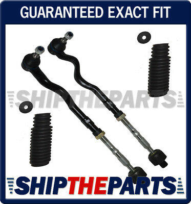 FRONT LEFT RIGHT STEERING Tie Rods Assemblys Rack Boots for BMW E46 M3 Set 4