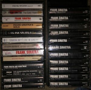 LOT-OF-24-DIFFERENT-FRANK-SINATRA-CASSETTE-TAPES