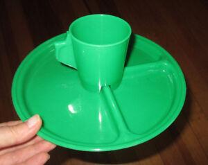 Vintage Jerywil Kids Green Hard Plastic Plate Amp Cup Mug