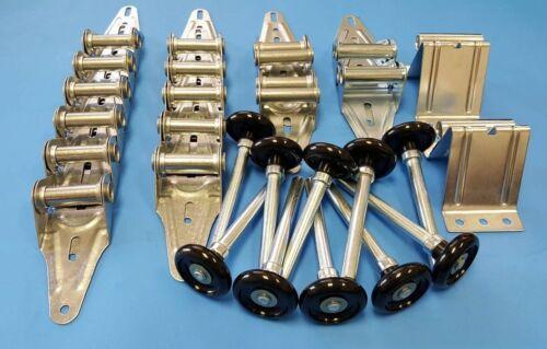 Hinges 16x7 Rollers Garage Door Hardware Kit Brackets