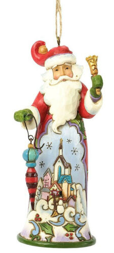 Jim Shore Christmas Santa w//Bell /& Winter Town Scene Hanging Ornament ~ 4036337
