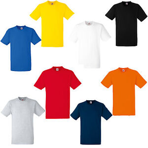 2-PACK-FRUIT-OF-THE-LOOM-HEAVY-COTTON-T-SHIRTS-6-COLOURS-S-M-L-XL-XXL-XXXL