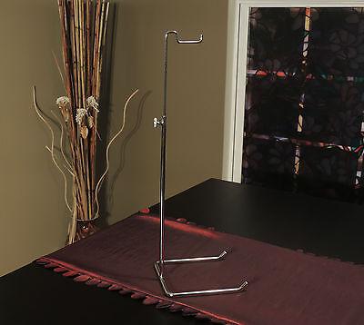 Single Hook Adjustable Chrome Handbag Purse Display Stand