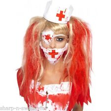 Ladies Instant Bloody Dead Zombie Nurse Halloween Kit Fancy Dress Costume Outfit