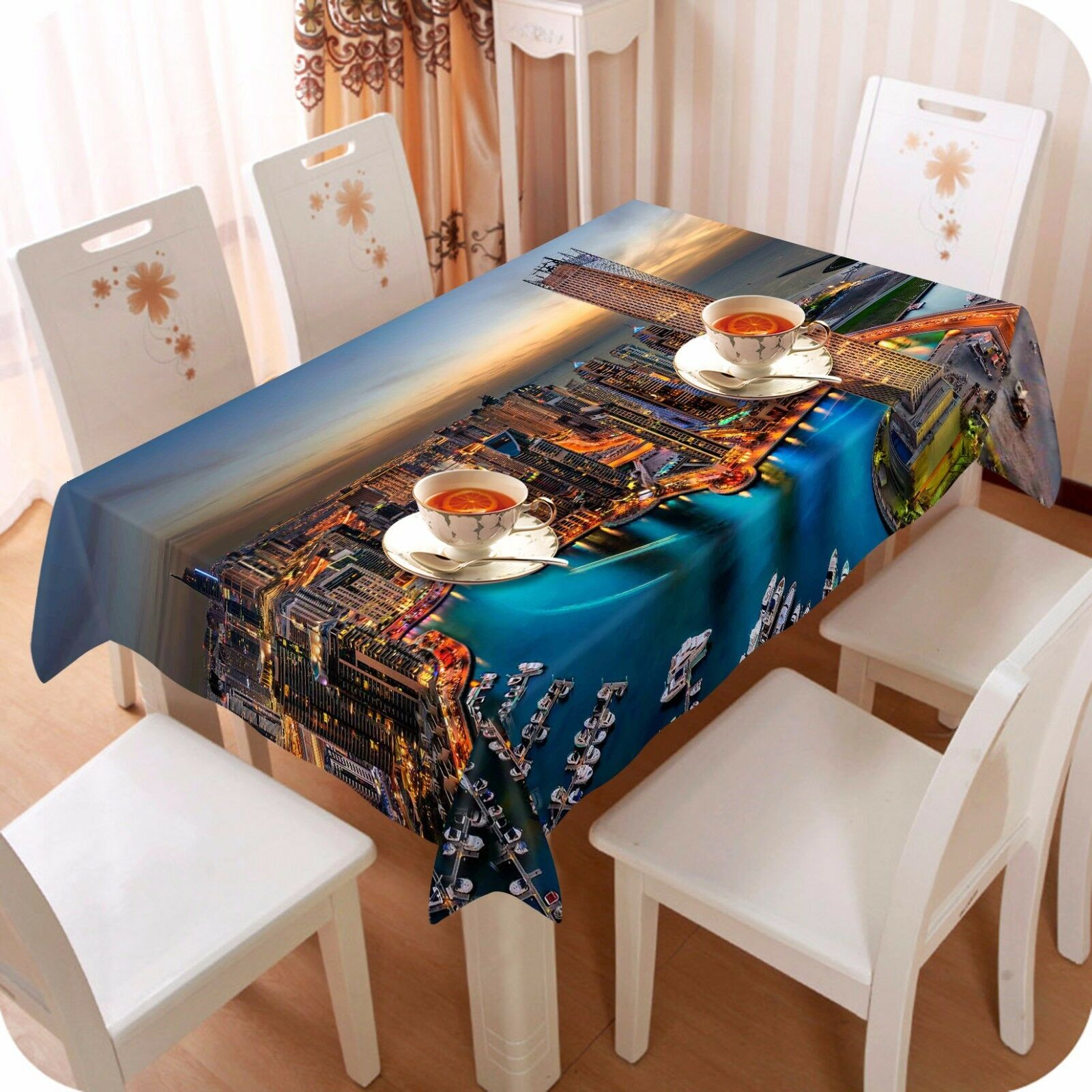 3D  City 430  Tablecloth Table Cover Cloth Birthday Party Event AJ WALLPAPER AU