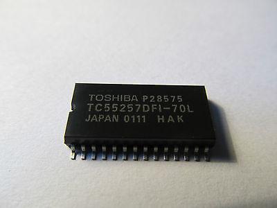 DIP-28 1PCS TC55257DPL-70L Encapsulation 32,768 palabras de 8 bits de memoria RAM estática